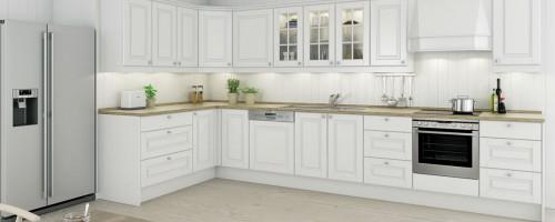 Hvit fylling kjøkkeninnnredning