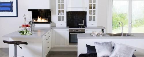 Komfort fylling hvit kjøkkeninnnredning