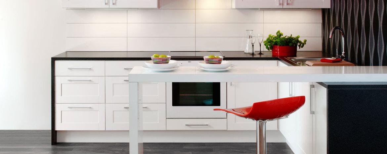 Komfort shaker hvit kjøkkeninnnredning