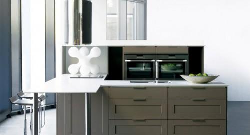 Premium shaker kjøkkeninnredning gråbrun