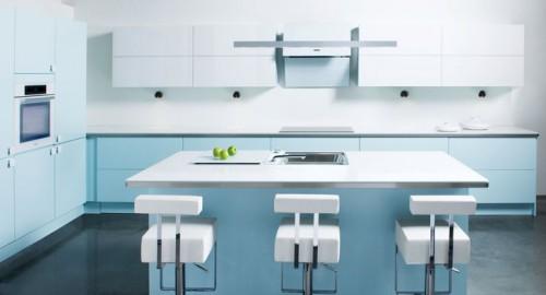 premium malt uni retroblå kjøkkeninnredning