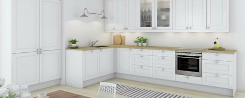 shaker hvit kjøkkeninnnredning