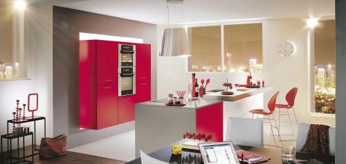 kiffa rouge eclat matt kjøkkeninnredning