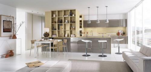 melia basalt høyglans lakkert kjøkkeninnredning