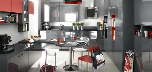 melia graphite brillant kiffa rouge matt kjøkkeninnredning