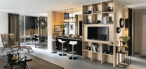 tallys glossy black lacquered kjøkkeninnredning
