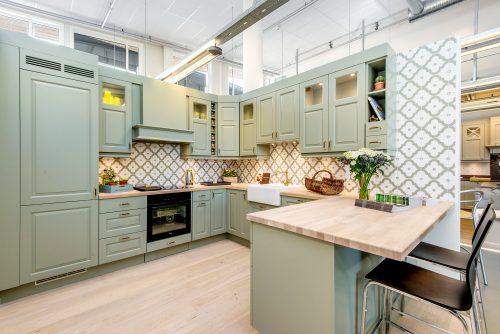 mintgrønt kjøkken